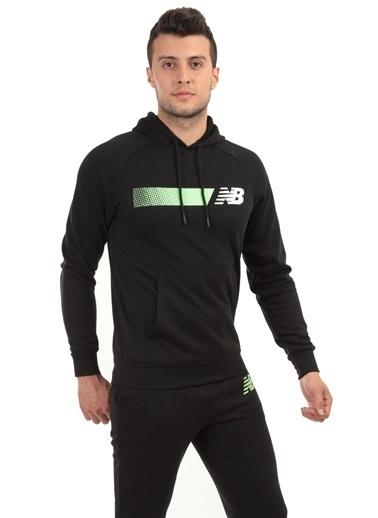 New Balance New Balance Erkek Kapüşonlu Sweatshirt Nb Team Hoodie Mph001-Bk Renkli